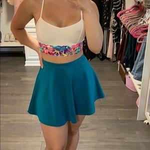 Blue summer skirt set